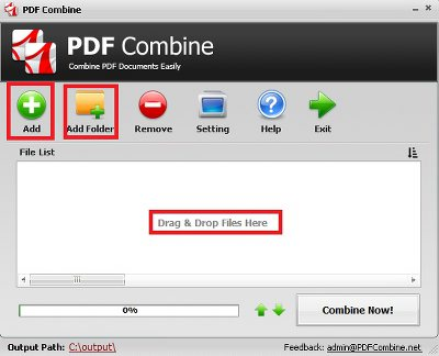 How to Combine PDF Files Step 1 - Add PDF Files