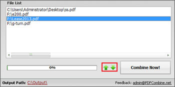 Adjust the PDF Merging Order